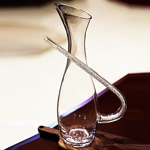 MQQ Conjunto De Dispensadores De 1500 Ml, Decantador De Vinos, Personalidad Elegante Jarra De Cristal, con Accesorios De Vino Amplio, Regalos De Vino, Vidrio Sin Plomo, para Aire Vívido.
