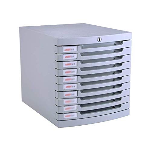 HYY-YY Clasificador de cajones de escritorio, organizador de unidad de almacenamiento con cerradura, caja A4 para oficina (10 capas: 30,5 x 38,5 x 32 cm)