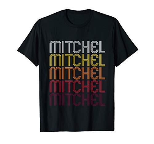 Mitchel Retro Wordmark Pattern - Vintage Style T-shirt
