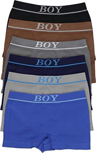 ToBeInStyle Paquete de 6 calzoncillos tipo bóxer para niño, Forro individual para niño, 4-6 Años