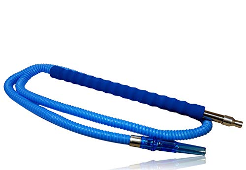 Bayli 1,8m Shisha Schlauch [Farbe - Blau] für Hookah   Ersatzschlauch für Wasserpfeife   Schlauch mit [gepolstertem] Mundstück