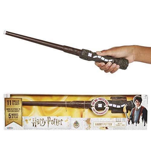 Jakks Pacific-Exclusiva varita de Harry Potter con hechizos interactivos Mágica, color con luces y sonido y una increíble jugabilidad, talla única (Glop Games 73195) , color/modelo surtido
