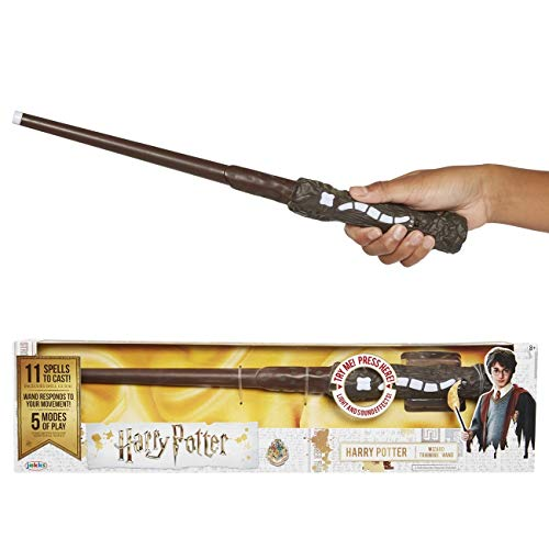 Harry Potter, Wizard Training Wand - 11 SPELLS To Cast Official Toy Wand with Lights & Sounds – Albus Dumbledore Wand & Lord Voldemort Wand Also Available