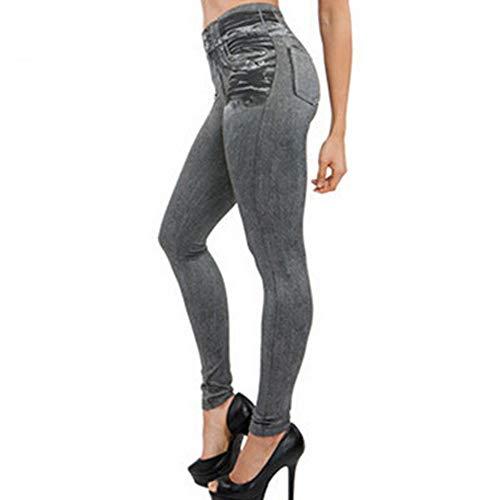 Black Friday limited deals Damen Denim Hose Leggings mit Taschenform Fitness Plus Size Leggins Länge Jeans