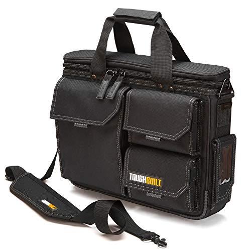 ToughBuilt - Quick Access Laptop Bag + Shoulder Strap, Medium, Rugged HardBody Construction with Protective Padding, Fits 13' - 17' Laptops, Compatible with ClipTech Pouches - (TB-EL-1-M2)