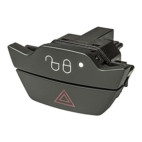 Sound-Way - Interruptor para Luces de Emergencia/Cierre centralizado para Bisel de Radio Adecuado para Ford Focus, Fiesta, B-MAX, C-MAX, BOT-3