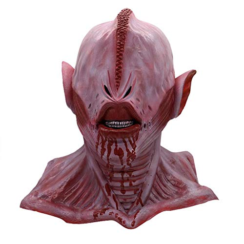 Death Game Scary Mask - Horror Masker Enge Latex Volledige Head Pruik - Halloween Cosplay Party Costume Props (One Size) LOLDF1