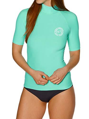 BILLABONG Logo Color SS Camiseta de natación, Mujer, Azul (Pool Azul 573), M