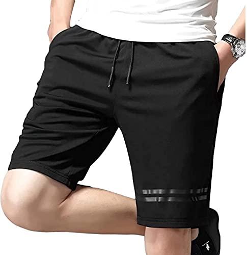 Pantalones cortos deportivos de secado rápido para hombre, para correr, talla grande