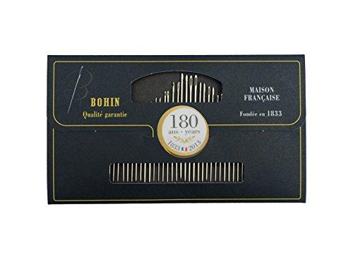 Bohin 98274 Hand-naainaaldenset, 40 stuks, zwart