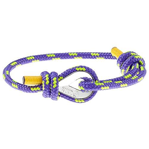 Wind Passion Pulsera Púrpura Náutica Cuerda de Calidad Comprobada para Hombre