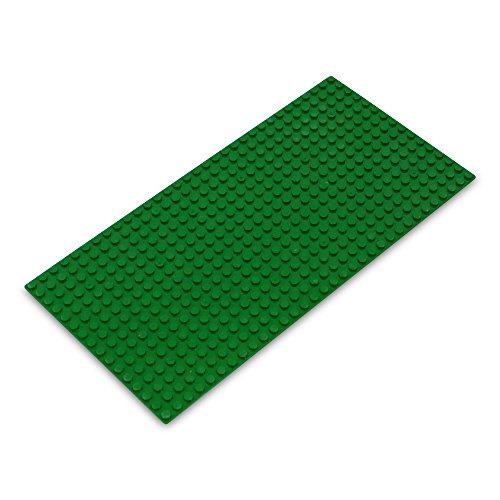 (Veel kleuren en sets) Katara 1672 - platen in 12, 25 cm x 25, 5cm / 16 x 32 pins, noppen; basisbouwplaat voor Lego, Sluban, Papimax, Q-Bricks, My, Wilko Blox, Lego Duplo compatibel 16*32 groen
