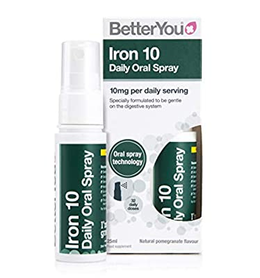 BetterYou Iron 10 Daily Oral Spray, 0.1 kg, Pack of 1, 700169
