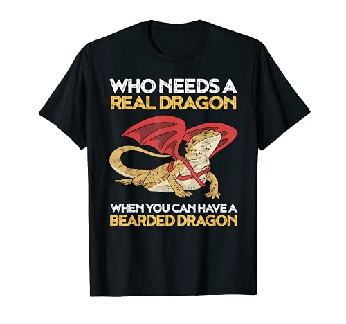 Bartagame T-Shirt Lustige Bartagame mit Drachenflügeln