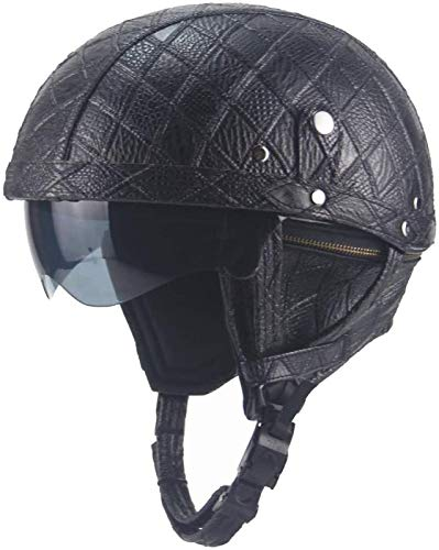 EBAYIN Cascos Half-Helmet Cascos Abiertos Medios Cascos Casco Motocicleta Retro Harley Medio Casco Cruiser Chopper Scooter Gorra De Colisión De Seguridad Gafas Integradas Casco Jet,D