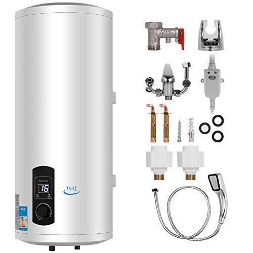 Bisujerro 120L Calentador de Agua Eléctrico 3KW Calentador de Agua con Tanque...