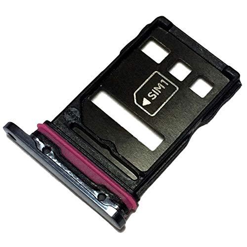 Simkortshållare och minneskort fack för Huawei P40 Pro (ELS-NX9, ELS-N04), original reservdel, svart