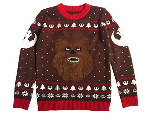 Maglione Natalizio Unisex Star Wars Uomo e Donna Chewbacca Ugly Christmas Sweater Small