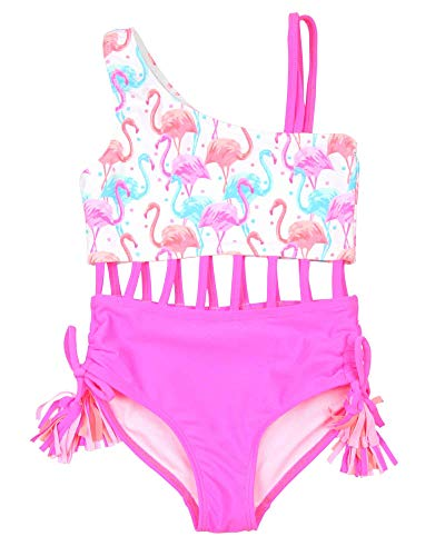 Kate Mack Girls' Paradise Island Two Colour-Way Swimsuit, Sizes 4-12 - 6 Pink