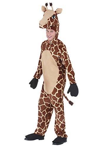 Adult Jolly Giraffe Costume Plush Giraffe Costume for Adults X-Large