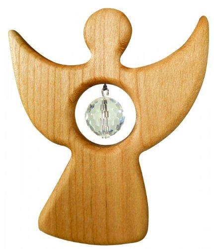 Unbekannt Fensterschmuck Kleiner Engel aus Birnbaumholz, Sternengasse