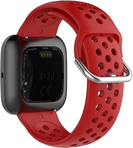 Gransho Correa de Reloj Recambios Correa Relojes Caucho Compatible con Fitbit Versa 2 / Versa 2 SE/Versa Lite/Versa smartwatch - Silicona Correa Reloj con Hebilla (Pattern 7)