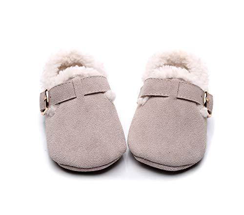 GUHUA Babybaumwollschuhe Der Männer Und Der Frauen, Babykleinkindschuhe, Neugeborene Warme Winterhefterzufuhren 3-6 Monate