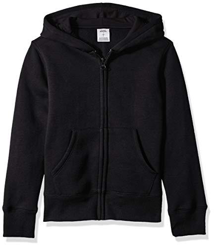 Amazon Essentials Fleece Zip-up Hoodie, fashion-hoodies Niñas, Negro, Medium (Talla fabricante: 8 Jahre)
