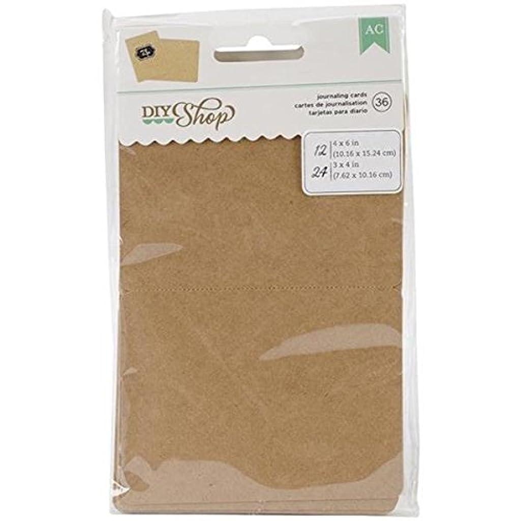 American Crafts 36-Piece DIY Shop Kraft Journaling Card Pads