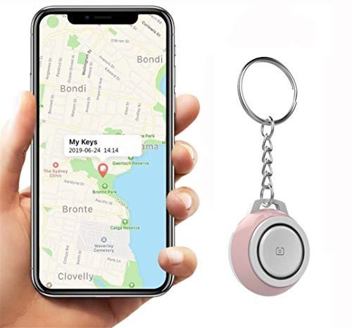Auoeer Key Finder, Mini Bluetooth Dispositivos Tracker, perdida Anti-Chip de GPS, Controles remotos, Item Finder perseguidor Elegante, teléfono localizador, Pet Tracker.Rosado (Talla : 4 Pcs)