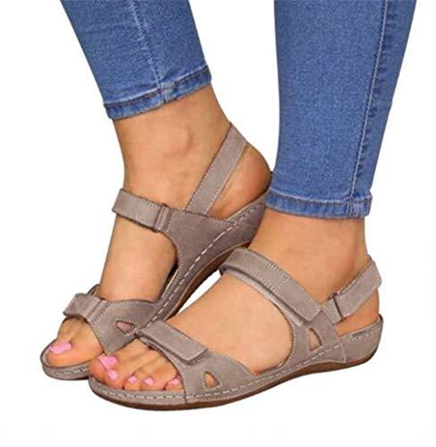 Dames Flatform sandalen Orthopedische sandalen Kunstleer Antislip Ademende vrijetijdssandalen Zomer Trekking Sandalen met steunzool