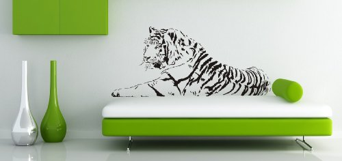 Sticker-Verschicker WANDTATTOO TIGER AFRIKA LÖWE WANDAUFKLEBER WANDSTICKER WALLPRINT (Größe 57 x 130 cm) Nr.118