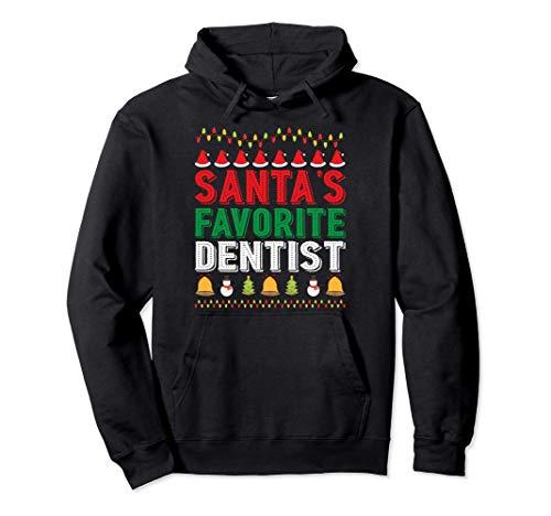Santa's Favorite Dentist Christmas Ornament Xmas Holiday Pullover Hoodie