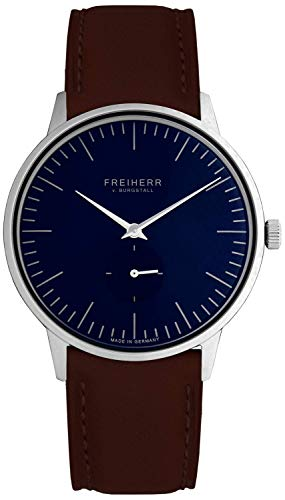 Freiherr Hamburg Quartz Watch with Leather Wriststrap - Men & Women - Brown/Green
