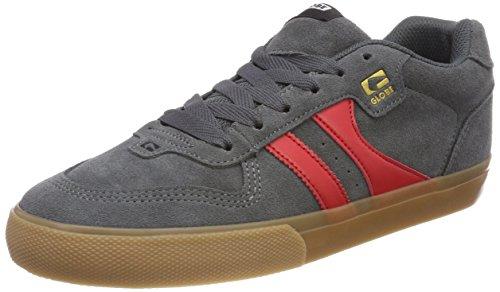 Globe Herren Encore-2 Skateboardschuhe, Grau (Charcoal/gum/red 15234), 46 EU (12 US)