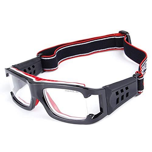 Aeromdale Sports Goggles Protección de Seguridad Gafas de Baloncesto con Correa Ajustable para Baloncesto Fútbol Voleibol Fútbol Hockey Fútbol Protector de Gafas Unisex - # C - # 4