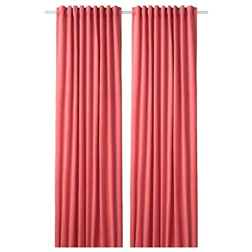 Ikea Sanela Room Darkening Curtains 1 Pair Light Brown-red 55x98 704.444.85