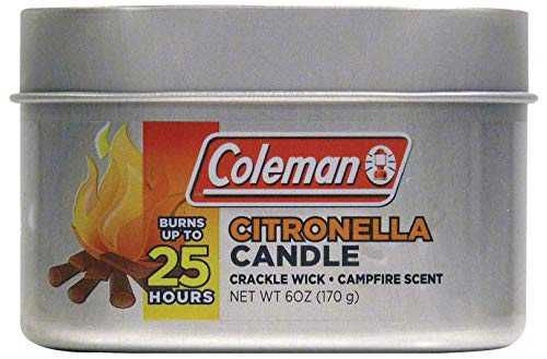 Coleman Campfire Citronella Crackle Candle with Wooden Crackle Wick - 6 oz