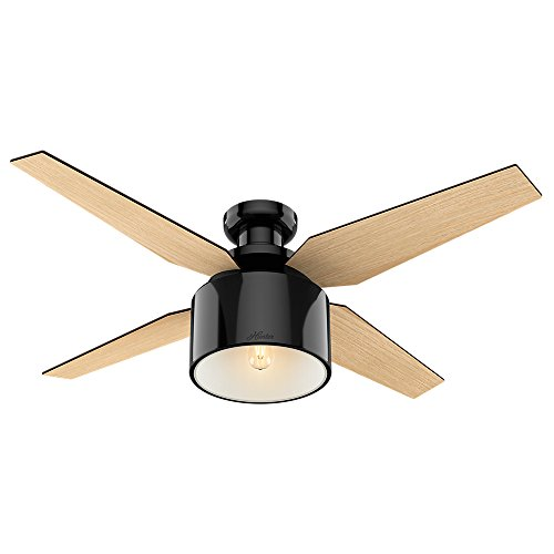 "Hunter Cranbook Indoor Low Profile Ceiling Fan with LED Light and Remote Control, 52"", Bronze/Dark"