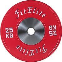 FitElite(フィットエリート)バンパープレート 2枚1組 (25KG)
