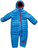 DKNY Baby Boys' Snowsuit - Infant and Newborn Packable Fleece Lined Winter Pram Suit, Blue, Size 3-6 Months