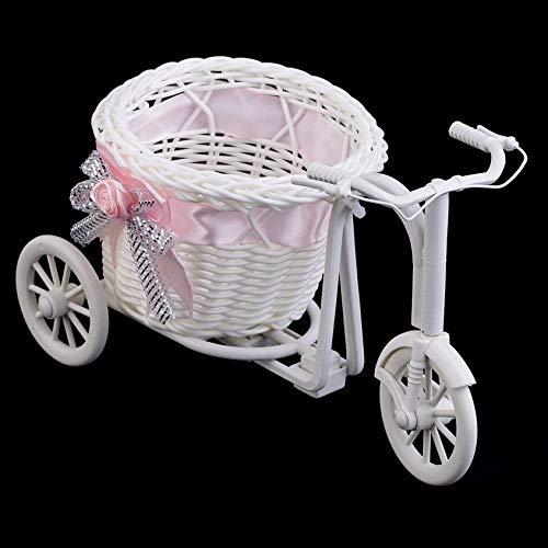 BOWKNOT Rotan Tricycle fietsmand party bruiloftsdecoratie geschenk huis decoratie