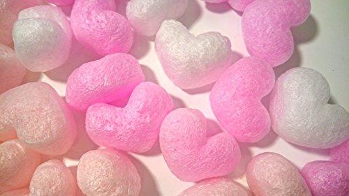 DAISO ピンク ホワイト ハート クッション材 恋ピンク
