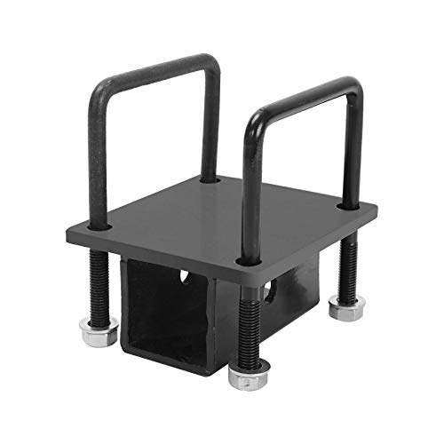 """RV Bumper Hitch Receiver Adapter Compatible with RV Bumper Bike Rack Cargo Travel Carrier Mount Built for 4"""" x 4"""" Continuous Welded Steel Bumpers"""
