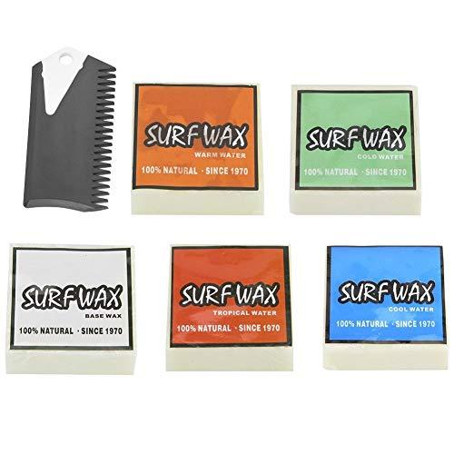 Broco Surf Tabla de Skimboard, Antideslizante Cera de la Resaca del monopatín Skimboard Tabla de Surf de Cera con el Peine de Accesorios de Surf