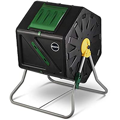 Miracle-Gro Small Composter - Compact Single Chamber Outdoor Garden Compost Bin - Heavy Duty - Easy to Assemble Compost Tumbler + FREE Scotts Gardening Gloves