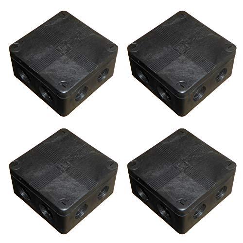 Outdoor Verteilerkasten mit Anschlussblöcken und glatten Aussparungen, wasserdicht, IP66, 91 x 47 mm, 4 Stück