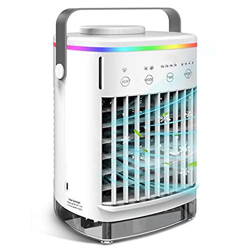 Condizionatore D'aria Portatile, Umidificatore Per Raffreddamento Ad Acqua Con Dispositivo Di Raffreddamento Dello Spazio Personale USB Con 4 Velocità Del Vento,Grigio