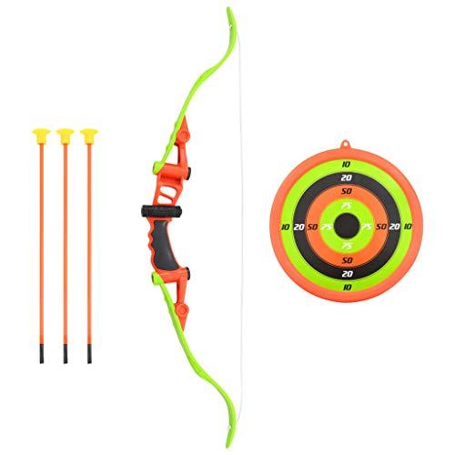 vidaXL Set Tiro con Arco Juguete Niños 3 Flechas + 1 Diana Incluidas 5 Piezas Conjunto Juego Infantil Deportivo Aire Libre Uso Exterior Interior