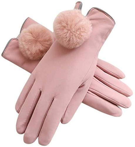 PXX handschoenen dames harige verwarming bal decoratieve ademen lederen handschoenen warme handschoenen elegante dame winter handschoenen